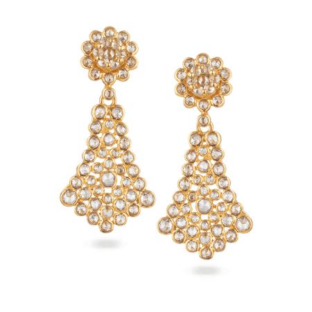 27934 - Diya 22ct Gold Uncut Polki Earrings