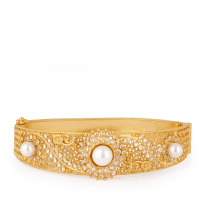 28016 - Anusha 22ct Gold Kada Bangle