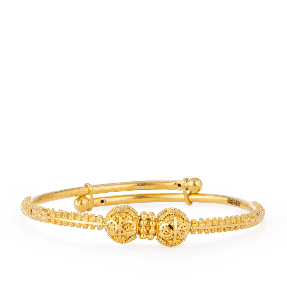 28069,28070 - Boys Baby Bangle in 22ct