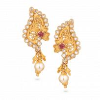 28075 - Anusha 22ct Gold Earring