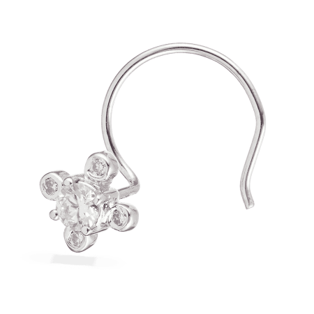 28107 - 18ct White Gold Diamond Nose Pin