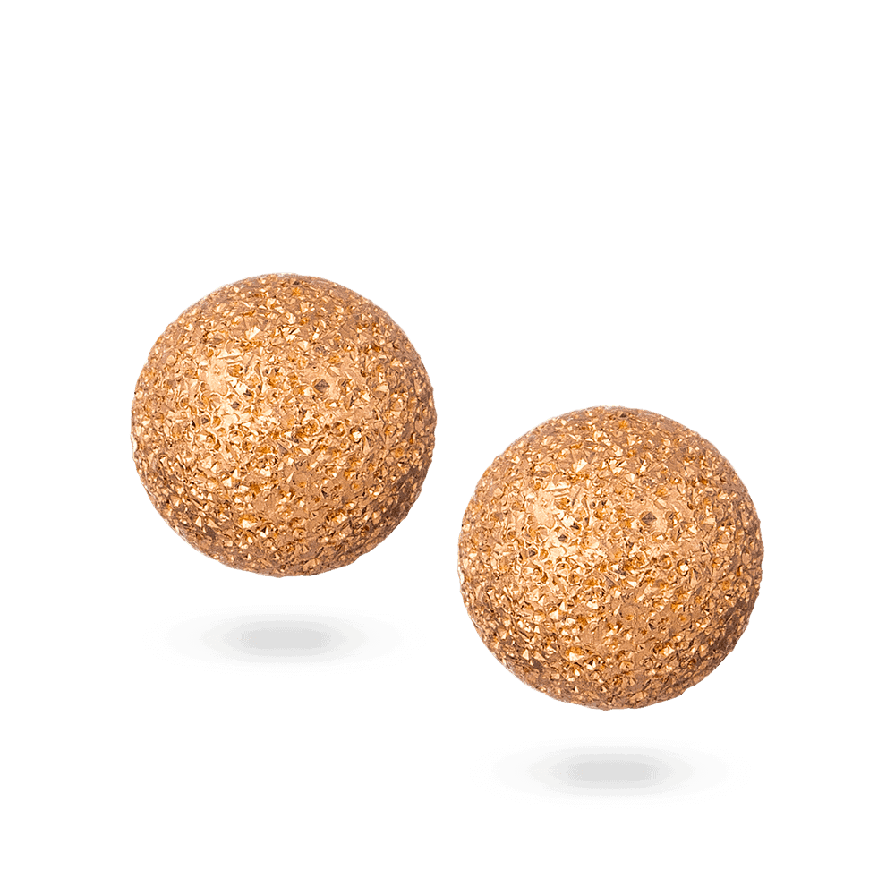 28120 - 22ct Gold Sparkle Ear Studs