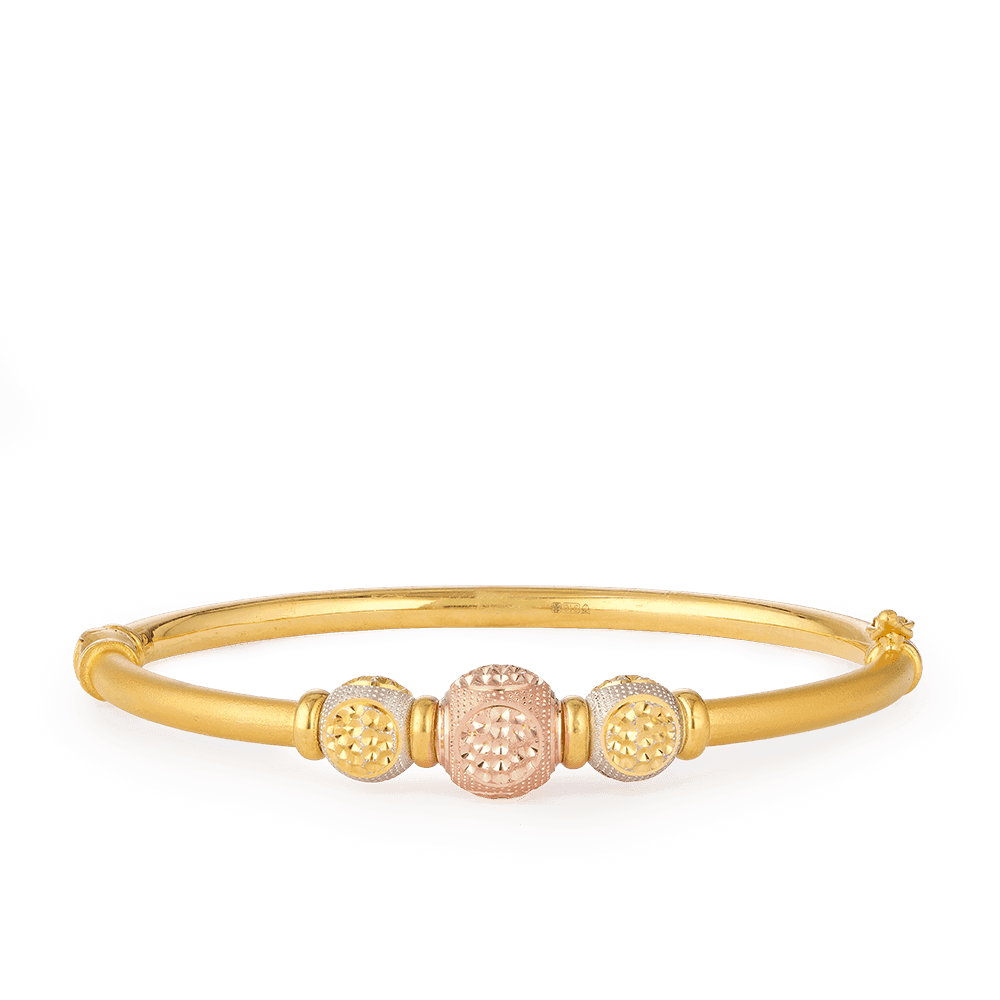 28123 - 22ct Gold Sparkle Bangle Bracelet