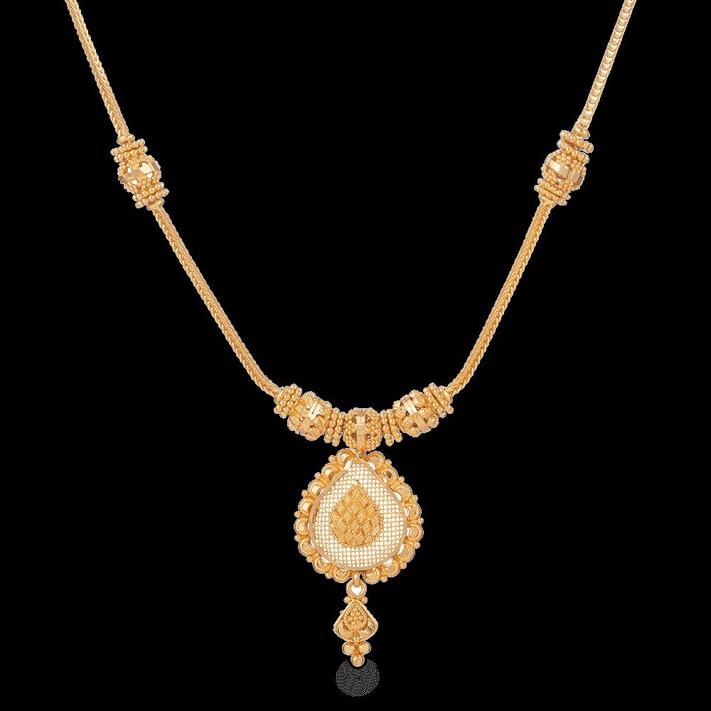 28197 - Bridal Necklace set in 22k Gold