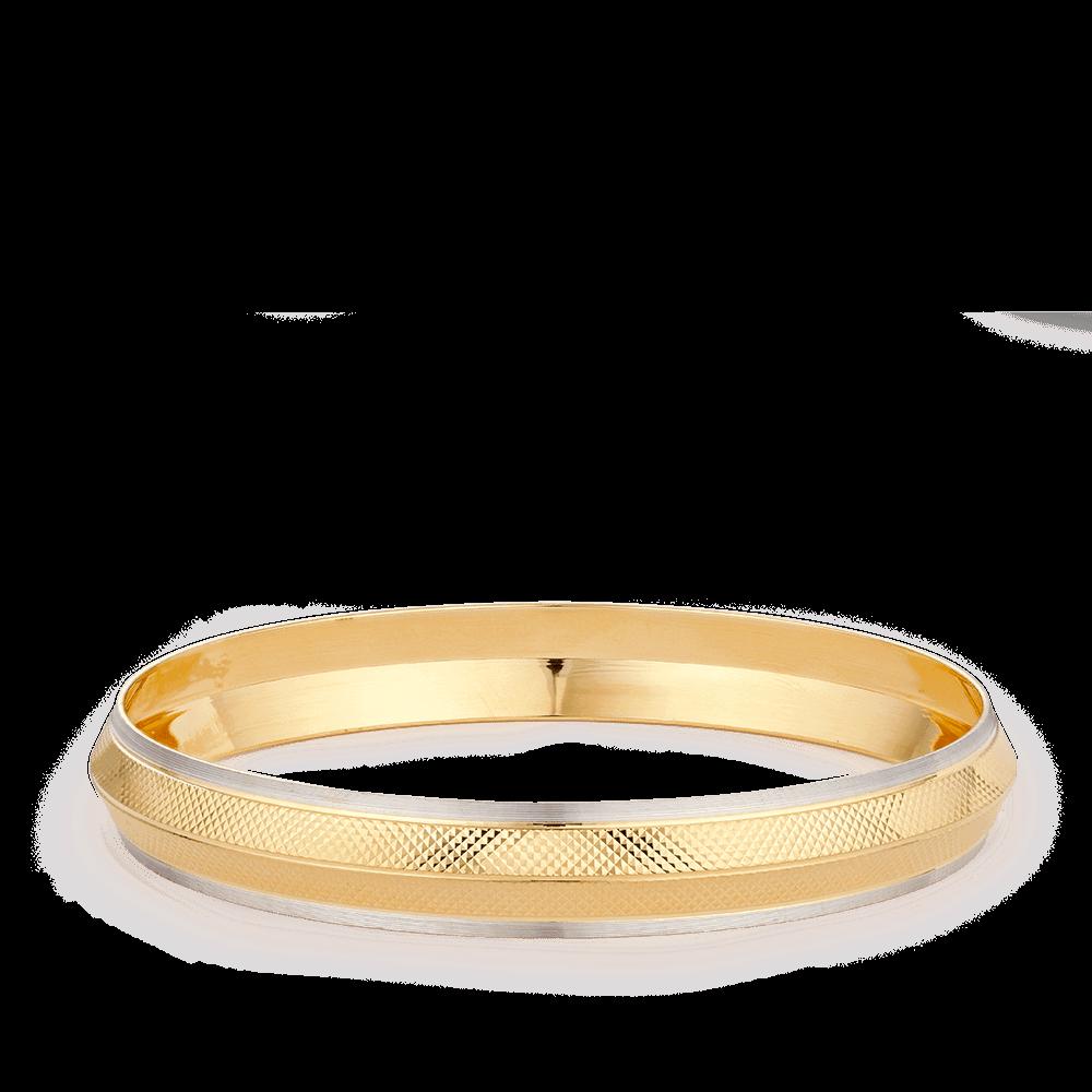 28257 - 22ct Gold Kada For Men