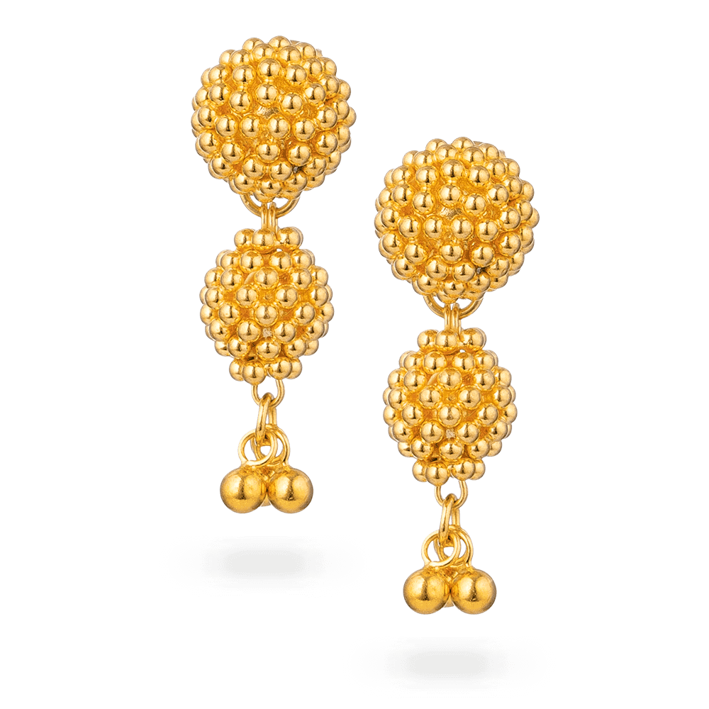 30730 - 22ct Gold Bridal Earring