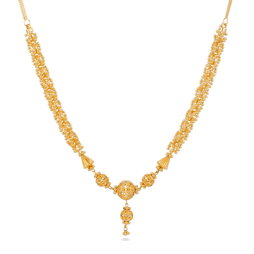 28390 - 22ct Indian Gold Filigree Necklace