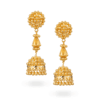 28391 - 22ct Gold Jhumka Earring