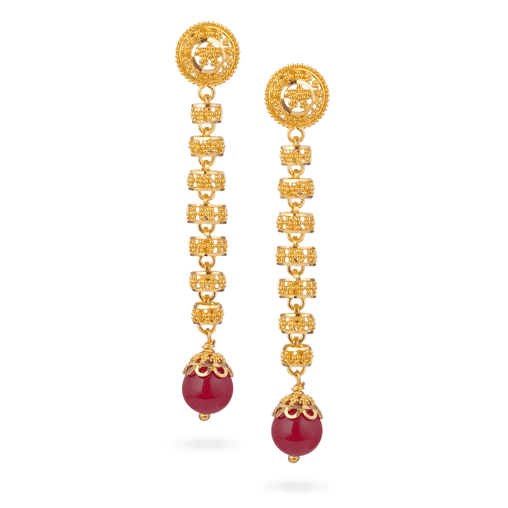 28393 - 22ct Gold Bridal Earring