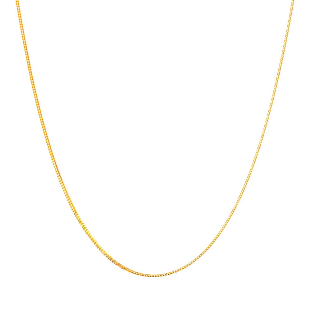 31817 - 22ct Gold Foxtail Chain in 16 inches