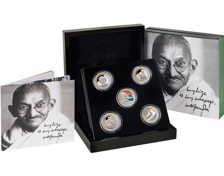Gandhi Silver Coin Set