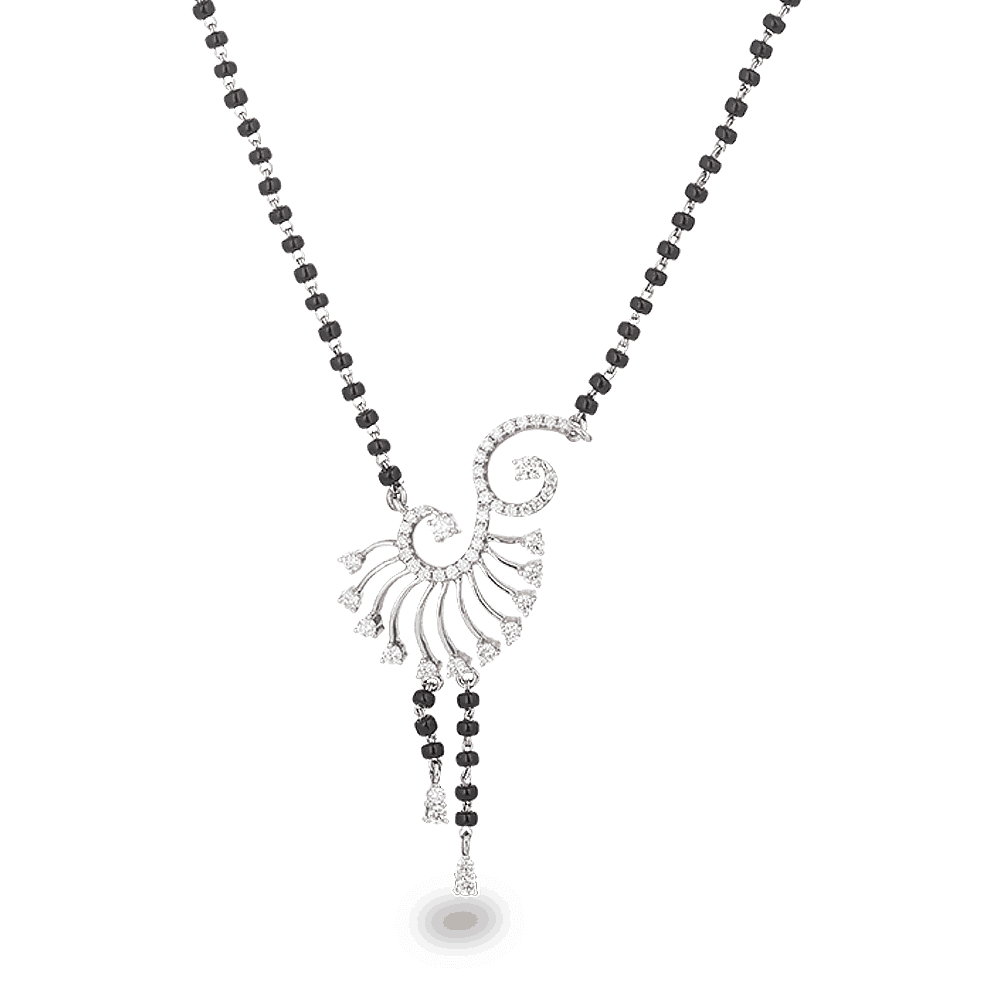 22891 - 18ct White Gold Mangalsutra with diamonds