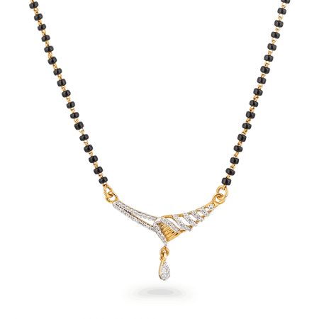 27282 , 24879 - 22ct Gold Mangalsutra With Tanmania Pendant