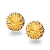 30966 - 22ct Gold Flower Shaped Stud