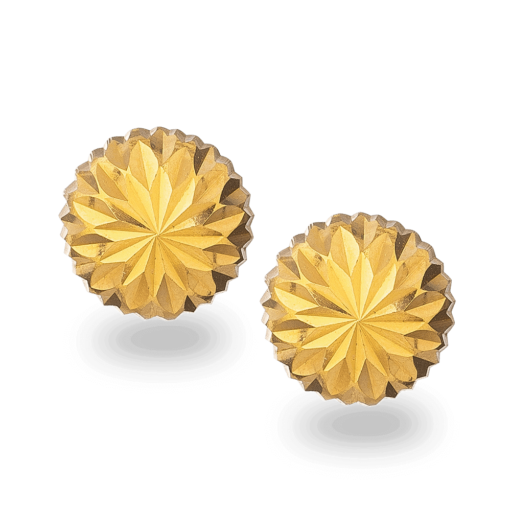 30894, 30895, 30896, 30897 - 22ct Gold Flower Shaped Stud