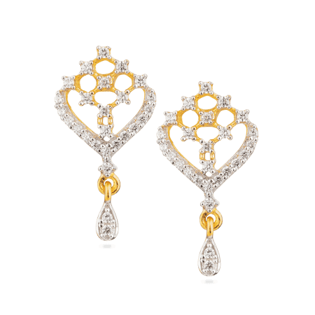 27177 - 22ct Gold Earring with CZ Stones