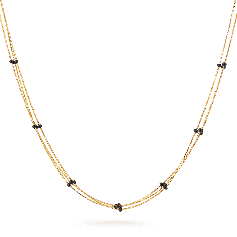 27331 - 22ct Black Beaded Mangalsutra Chain