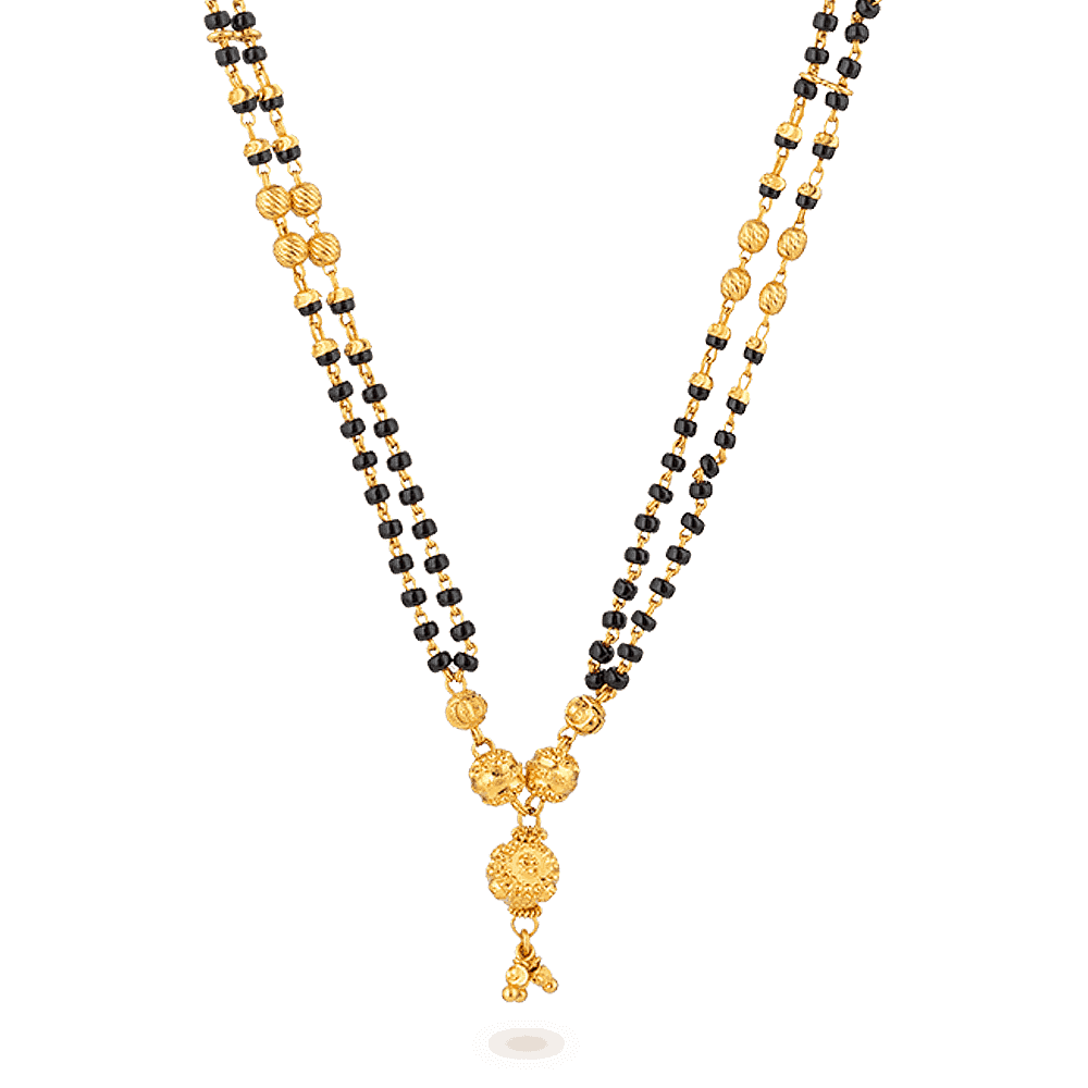 27587 - 22ct Gold Mangalsutra With Ball-Drop Pendant