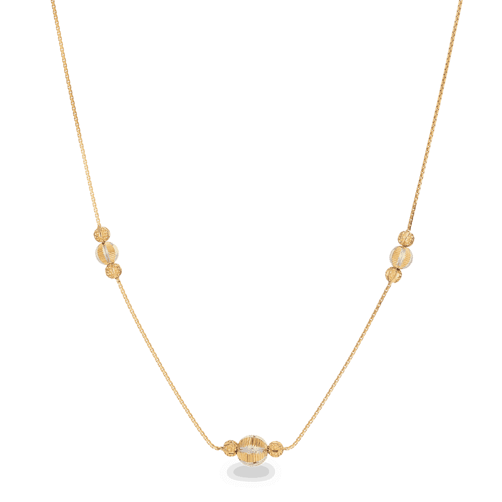 27994 - 22ct Gold Beaded Choker Necklace