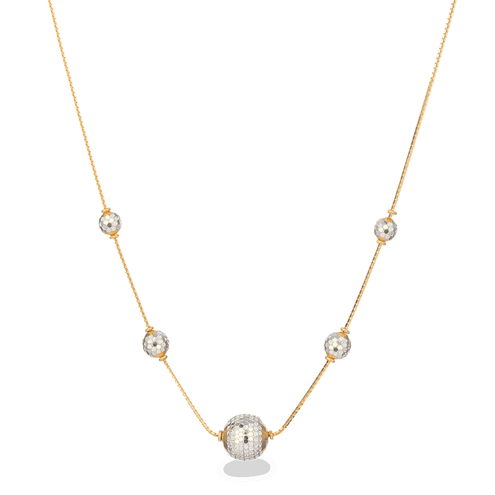 27995 - 22ct Yellow Gold Ball Necklace