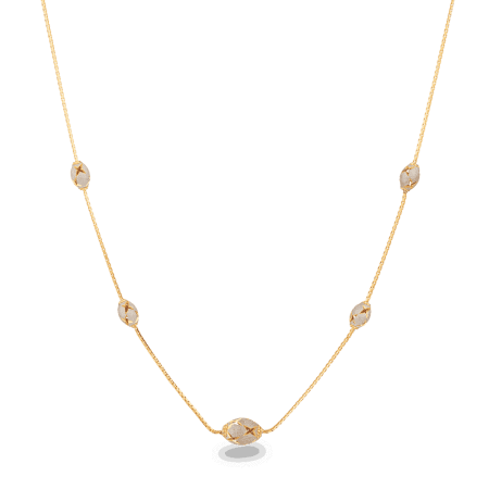 27997 - 22 carat Gold Oval bead Necklace