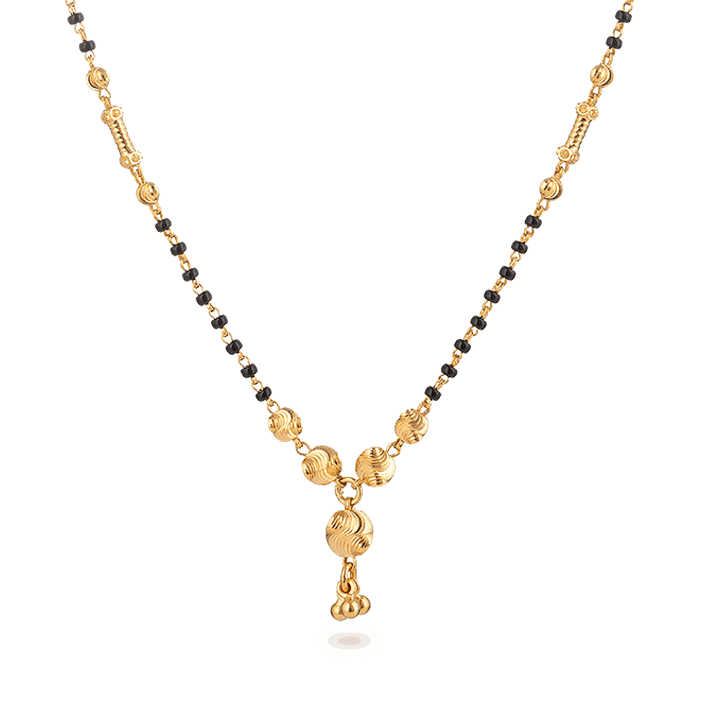 28024 - 22ct Gold Mangalsutra
