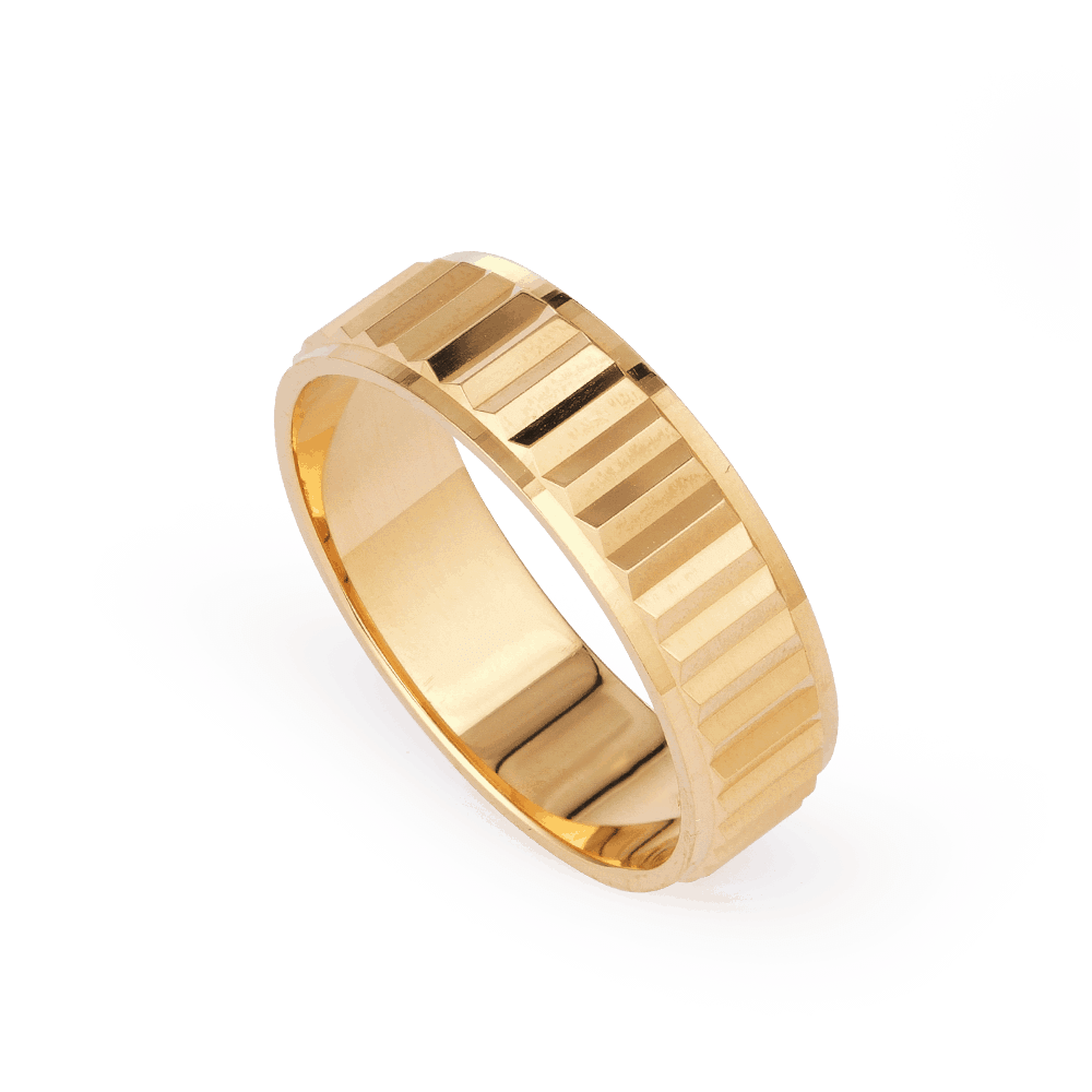 28237 - 22k Gold Indian wedding band