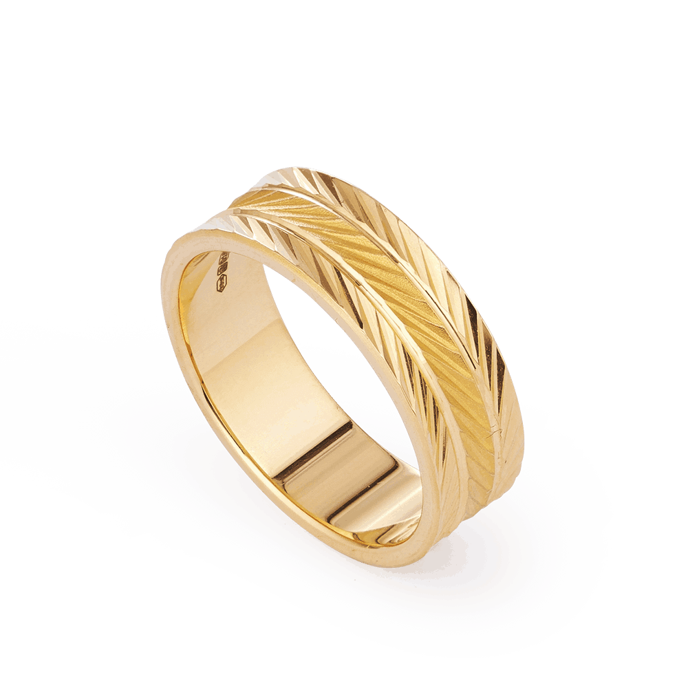 28239 - 22ct Asian Gold Band Ring