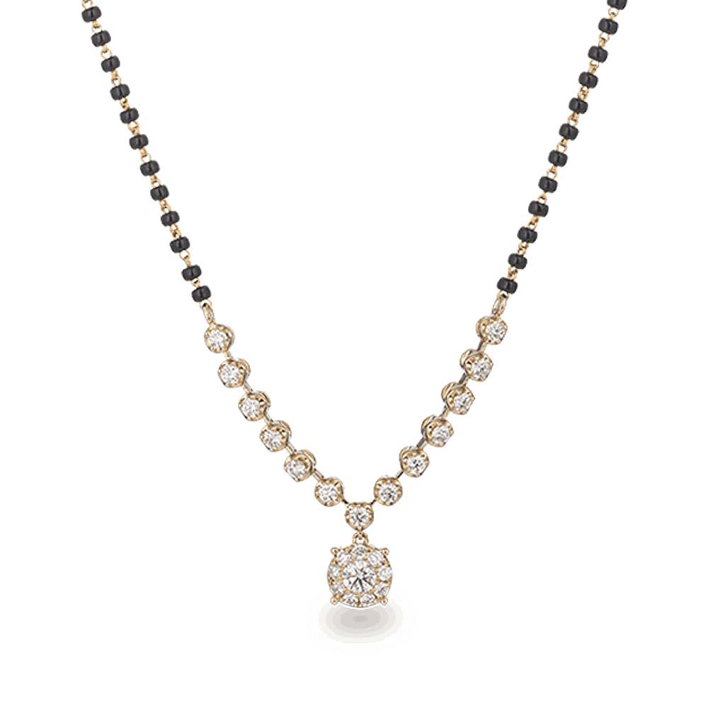 28456 - 18ct Yellow Gold Mangalsutra with Diamonds