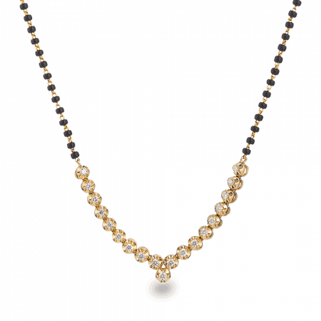 28458 - 18ct Yellow Gold Diamond Mangalsutra
