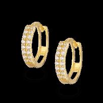 32300 - 22ct CZ Stone Bali Earring