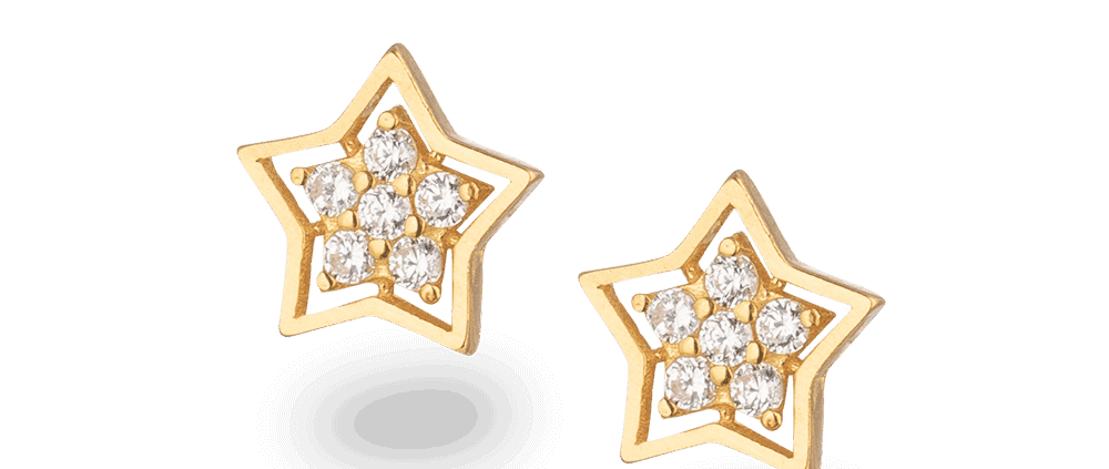 30866 to 30877 - 22ct Star Stud Star Earrings