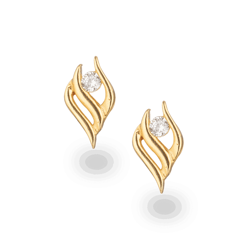 28530 - 22ct Gold CZ Earring