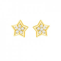 30866 - 22ct Star Stud Star Earrings