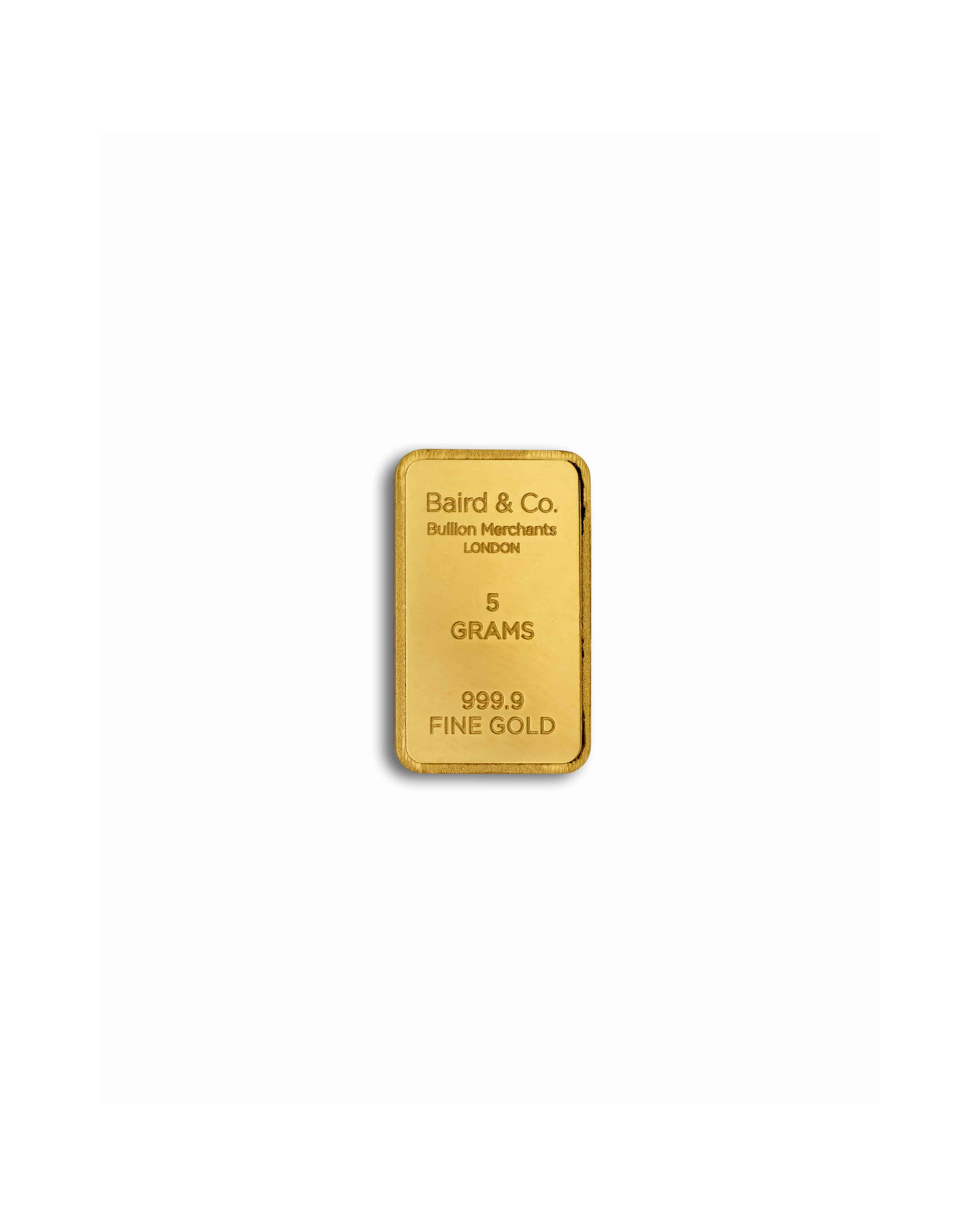 5gm gold bar - 24ct Gold Minted Bar in 5grm