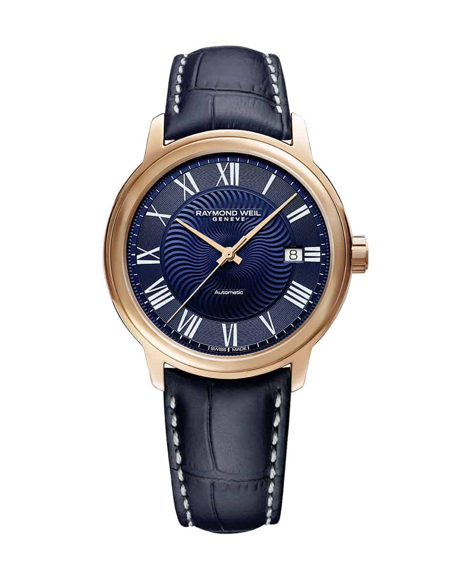 2237-PC5-00508 - Maestro Blues' Men's Automatic Rose Tone Watch