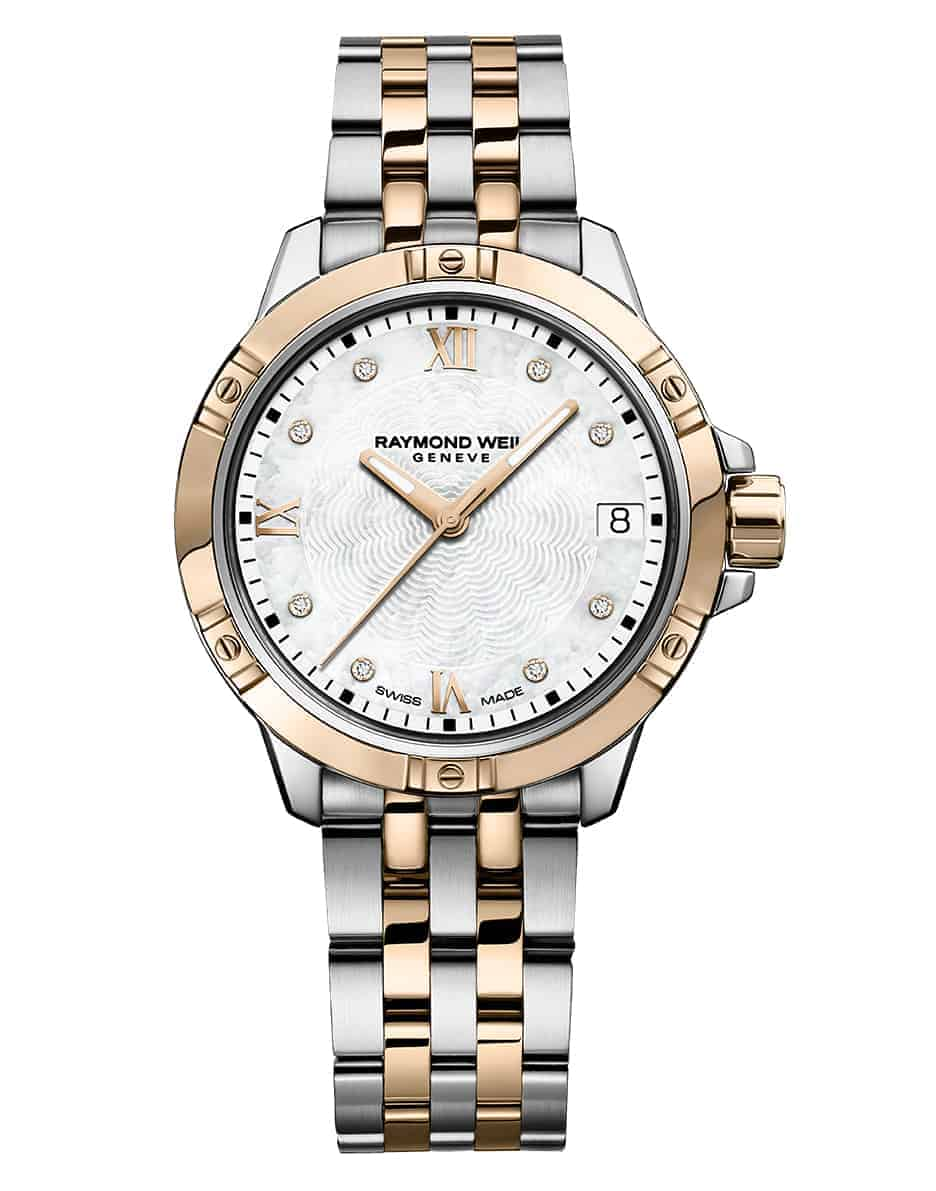 5960-SP5-00995 - Tango Classic Ladies Quartz Rose Gold Two-Tone Diamond Watch