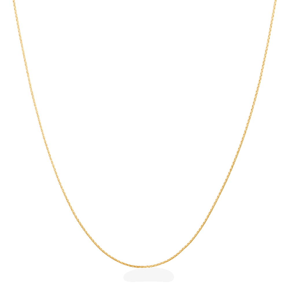 23947 - 22ct Gold Round Box Chain 16 Inches