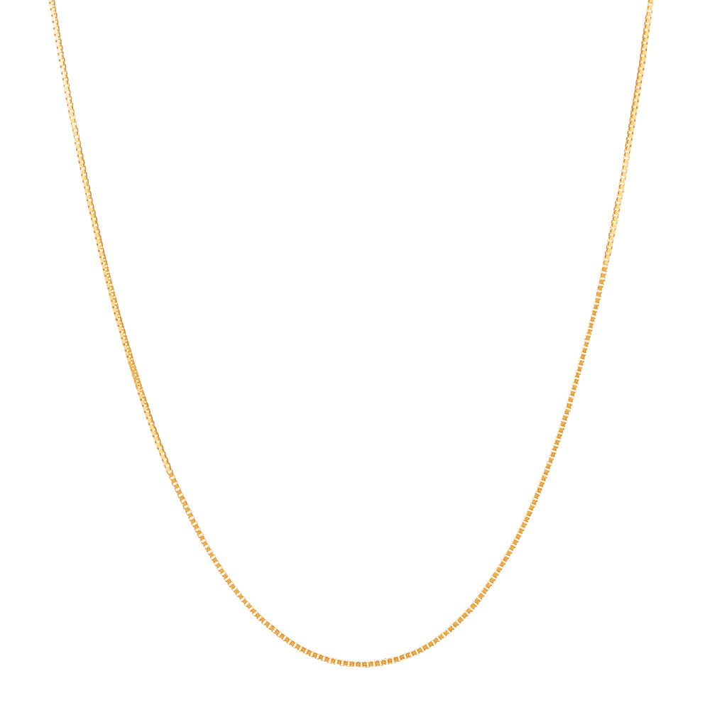 10360 - 22ct Gold Box Chain in 18 inches