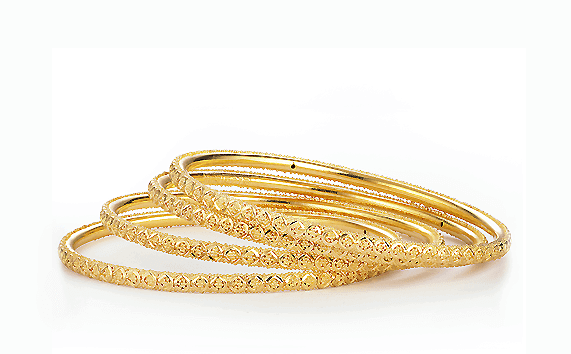 - 22ct Gold Bangles Set