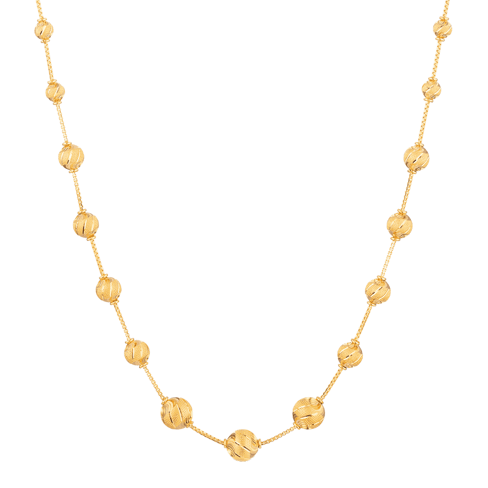 27767 - 22 karat Gold Sparkle Necklace