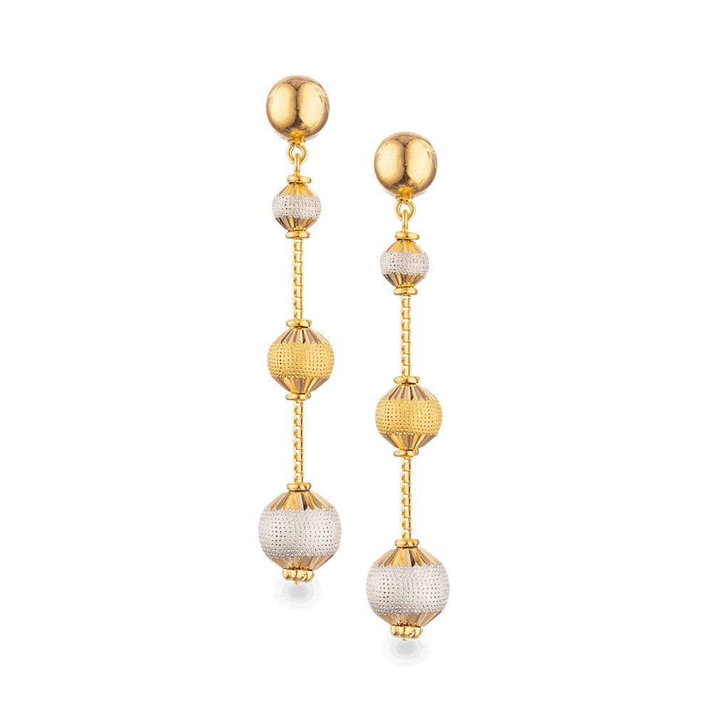 27786 - 22ct Gold Sparkle Earrings