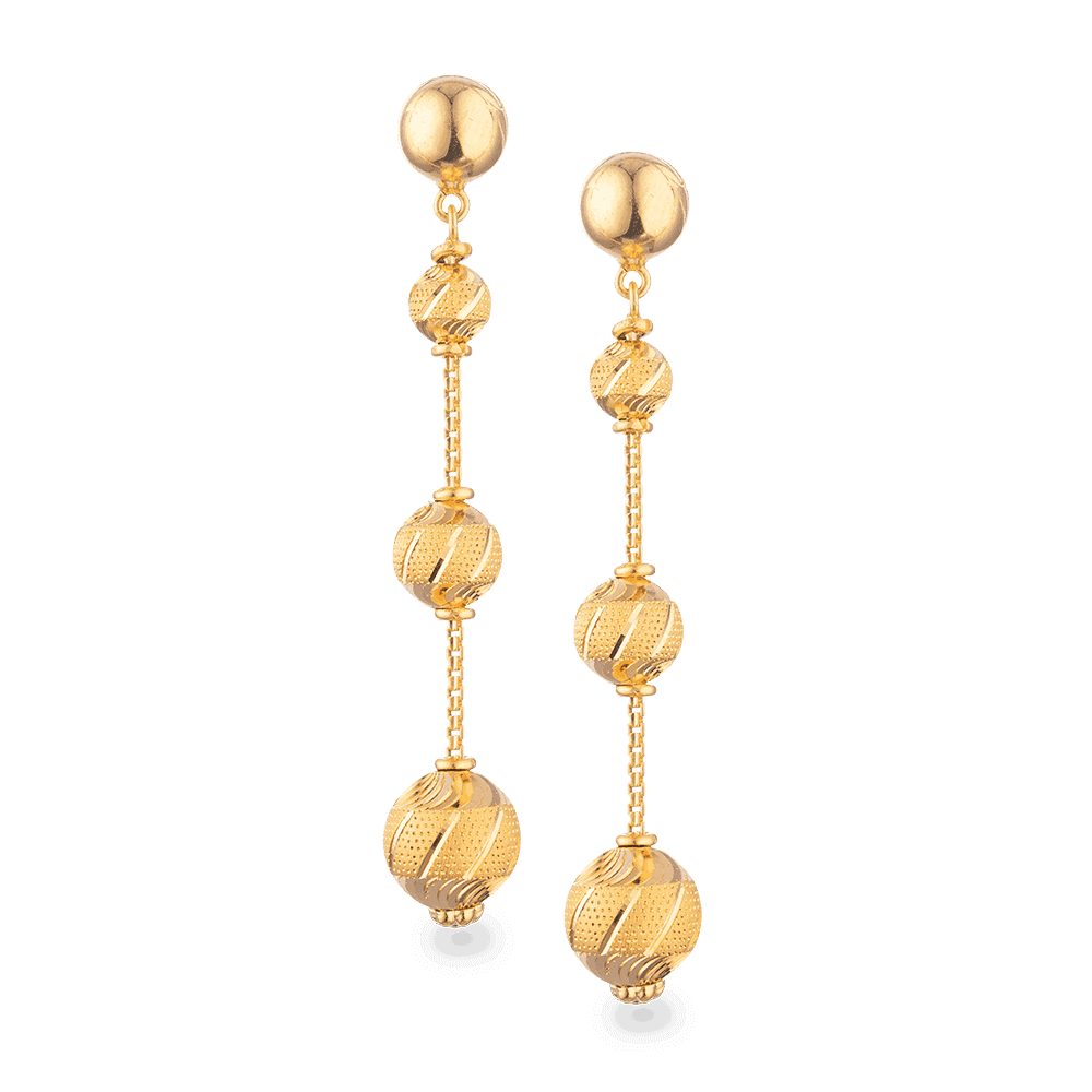 27787 - 22 Carat Gold Sparkle Earring