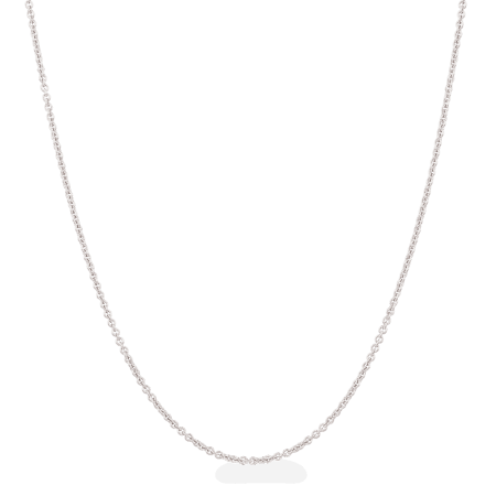 """28128 - 18ct White Gold Chain in 16"""" Inches"""