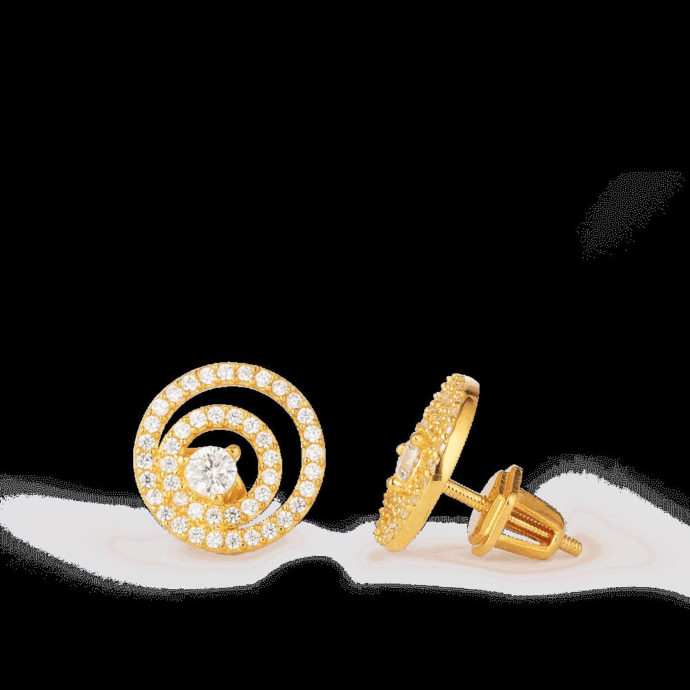 28634,28635 - Indian Gold Earrings In 22 Carat