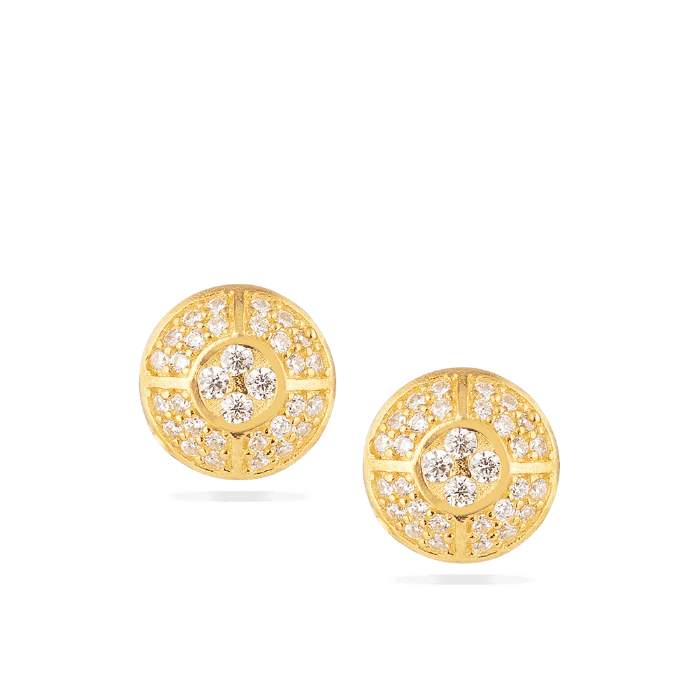 28639-3 - 22 Carat Gold Indian Earrings