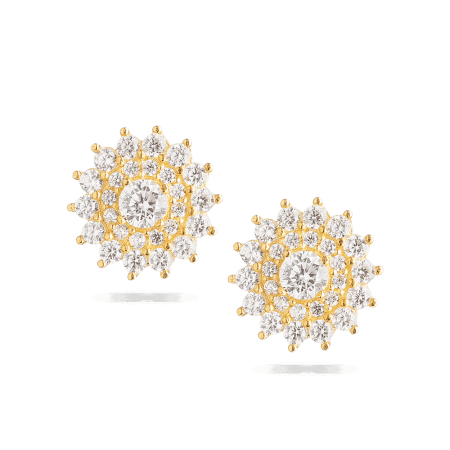 28639 - Indian Gold Earrings In 22ct