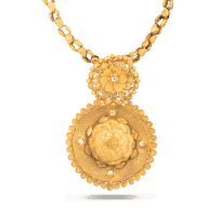 28724 - 22k Yellow Gold pendant with Antique finish