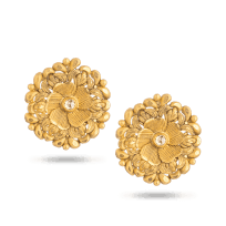 28726 - 22 Carat Gold Earring With Antique Finish