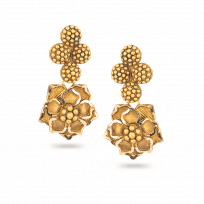 28730 - 22 Carat Gold Earring With Antique Finish